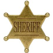 Six Point Ball Tipped Sherrif Badge